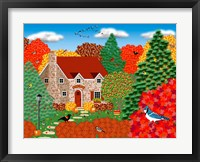Stone Cottage Autumn Fine Art Print