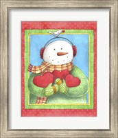 Snowman Give Heart Fine Art Print