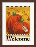 Pumpkin Autumn Welcome Fine Art Print