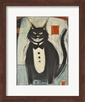 Gato Negro En Tux Fine Art Print