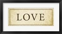 Love Plaque Fine Art Print
