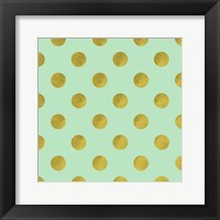 Golden Mint Dots Fine Art Print