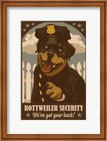 Rottweiler Security Fine Art Print