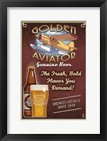 Golden Aviator Fine Art Print