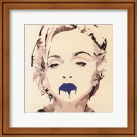 Madonna Pop Art Blue Lips Fine Art Print