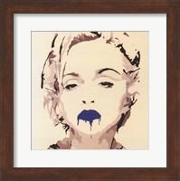 Madonna Pop Art Blue Lips Fine Art Print