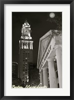 Moon Over Boston Fine Art Print