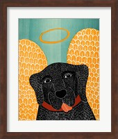 Angel Dog Black Fine Art Print