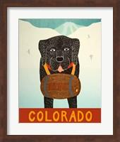 Colorado Beer Dog Black Fine Art Print