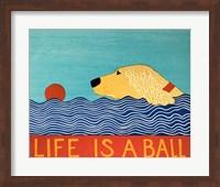 Life Is A Ball Gold Golden Fine Art Print