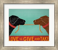 Love Is Black Choc Fine Art Print
