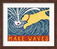 Make Waves Yellow Wbanner Fine Art Print
