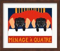 Menage A Quatre Black Black Fine Art Print