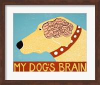 My Dogs Brain Yellow Fine Art Print