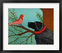 She Sings A Lovely Song Black Fine Art Print