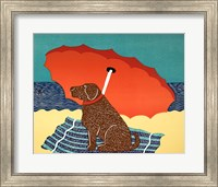 The Lifeguard Chocolate Fine Art Print