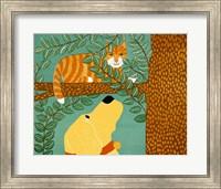 Up A Tree  Striped Yellow Fine Art Print