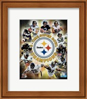 Pittsburgh Steelers 6-Time Super Bowl Champions Composite Fine Art Print