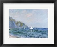 Cliffs and Sailboats at Pourville Fine Art Print