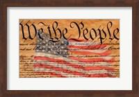 Constitution and U.S. Flag Fine Art Print