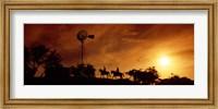 Horse Ride at Sunset, Hunt, Kerr County, Texas Fine Art Print