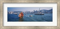 Waterfront Buildings, Kowloon, Hong Kong, China Fine Art Print