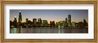 Chicago Skyline at Dusk, IL Fine Art Print