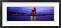 Big Red Lighthouse at Dusk, Holland, Michigan Fine Art Print
