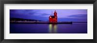 Big Red Lighthouse at Dusk, Holland, Michigan Fine Art Print