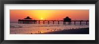Sunset at Fort Myers Beach, FL Fine Art Print