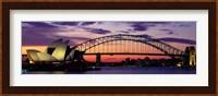 Sydney Harbor Bridge At Sunset,  Australia Fine Art Print