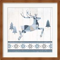 Nordic Geo Lodge Deer III Fine Art Print