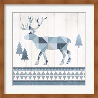Nordic Geo Lodge Deer IV Fine Art Print