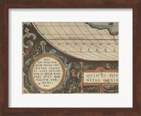 Antique World Map Grid VII Fine Art Print