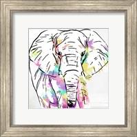 Elephant Head Colorful Fine Art Print