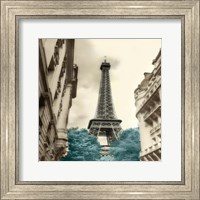 Teal Eiffel Tower 1 Fine Art Print