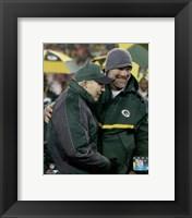 Brett Favre & Bart Starr at Favre's number retirement ceremony at Lambeau Field- November 26, 2015 Fine Art Print