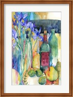 Table Scape With Irises Fine Art Print