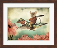 Catching A Ride On A Hummingbird's Back Fine Art Print