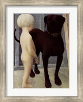 Child And Dog Fine Art Print