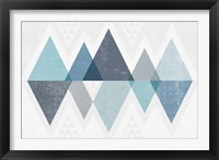 Mod Triangles II Blue Fine Art Print