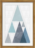 Mod Triangles III Blue Fine Art Print