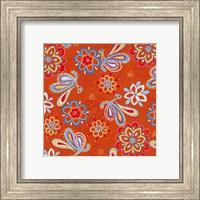 Orange Paisley Fine Art Print
