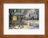 Winter Chickadees Fine Art Print