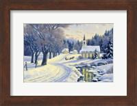 Winter Crossroads Fine Art Print