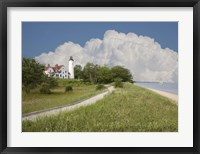 Pointoquois Lighthouse, Bay Mills, Michigan 08 Fine Art Print