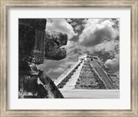 The Serpent And The Pyramid, Chechinitza, Mexico 02 Fine Art Print