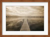 Dock at Crooked Lake, Conway, Michigan 09 Fine Art Print
