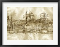 Boston Harbor c. 1877 Sepia Tone Fine Art Print