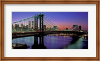 Manhattan Bridge and Skyline (detail) Fine Art Print